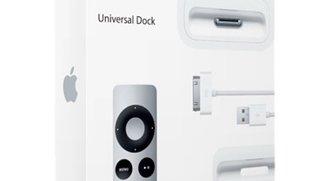 Apple liefert USB-Netzgerät mit Universal Dock statt mit AV-Kabeln - kompakte USB-Tastatur entfernt