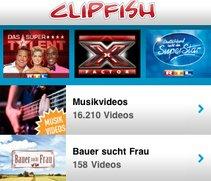 Clipfish-App erweitert das TV-Angebot fürs iPad
