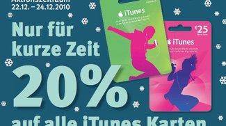 Rabatte für iTunes-Karten