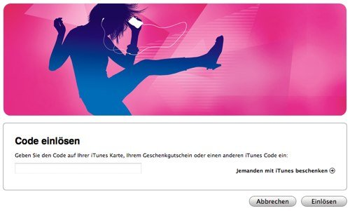 iTunes Code einlösen