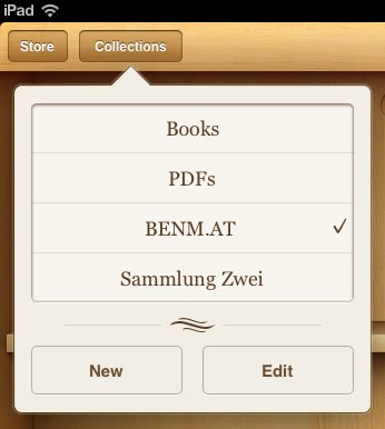 iBooks: Neue Version 1.2 bringt Sammlungen und Bilderbuch-Support