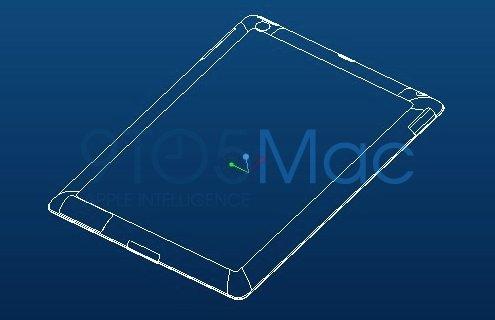 Zeichnung der iPad 2 Case Gussform