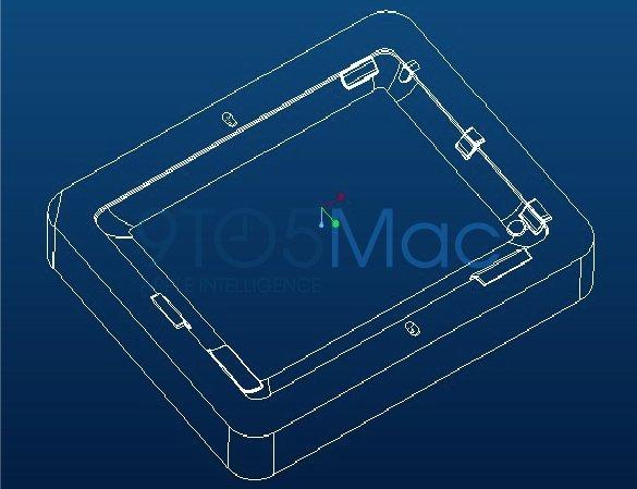 iPad 2 Cases: Gussform-Zeichnungen bestätigen Kamera, neue Kantenform und zusätzliche Öffnung?