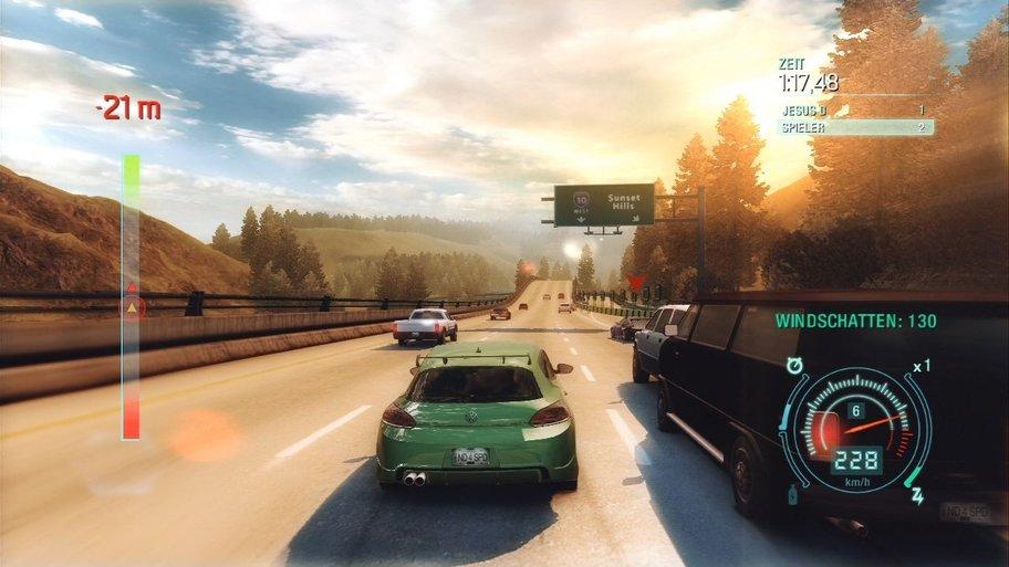 Need for Speed: Undercover Überholmanöver bei über 200 Sachen