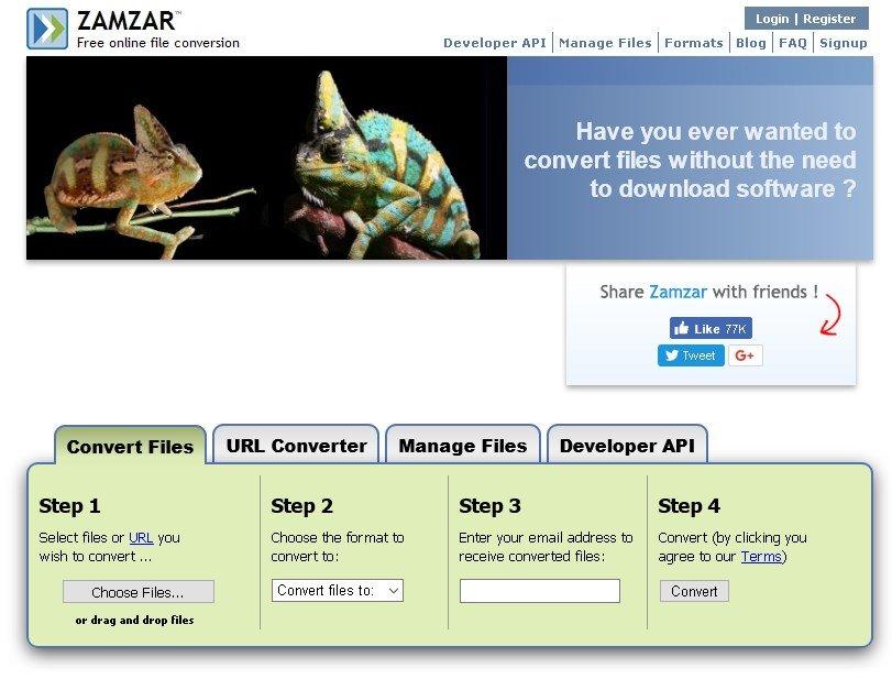 pdf-html-zamzar