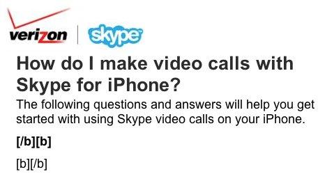 Videotelefonie am iPhone 4 mit Skype und Verizon?
