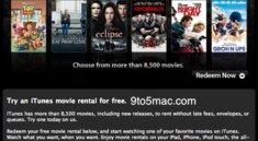 Apple verschickt Gutschein-Codes für gemietete Filme in den USA