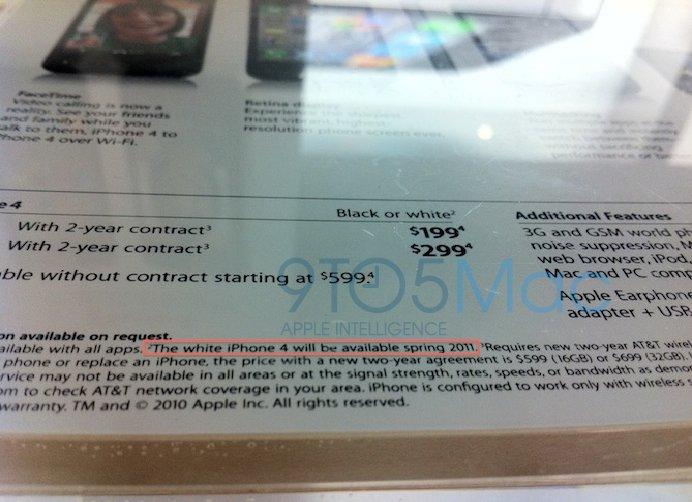 In Apple Retail Stores: Apple kündigt weisses iPhone 4 für Frühjahr 2011 an