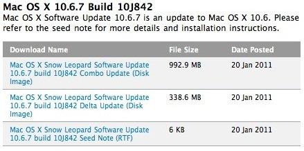 Apple veröffentlicht erste Beta von Mac OS X 10.6.7