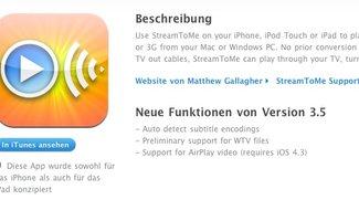 iOS 4.3 kommt: AirPlay-Video-Apps im App Store - Apple-TV-Farbproblem offenbar behoben