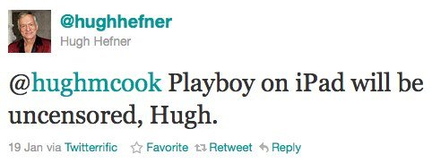 Twitter @Hugh Hefner Playboy on iPad ...