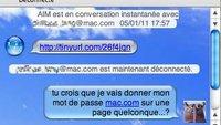 Phishing-Angriff auf iChat-Benutzer