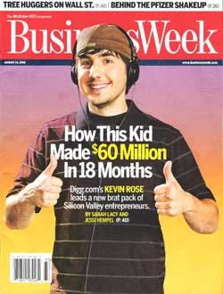 Kevin Rose in der Business Week