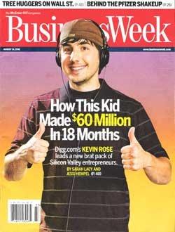 Kevin Rose in der Business Week