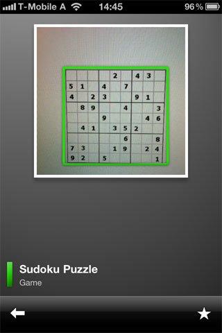 Google Mobile App: Google Goggles löst Sudoku-Rätsel