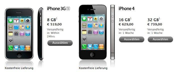 iPhone 4 simlockfrei in Österreich: Apple startet Direktverkauf im Apple Online Store