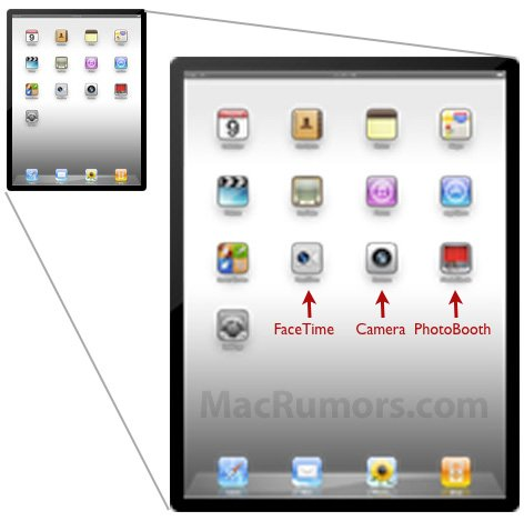 iOS 4.3b2 Fundstücke zeigen iPad 2 mit Kamera