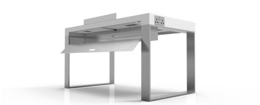 Schreibtisch futuristisch  Ein Podest für den Mac – GIGA