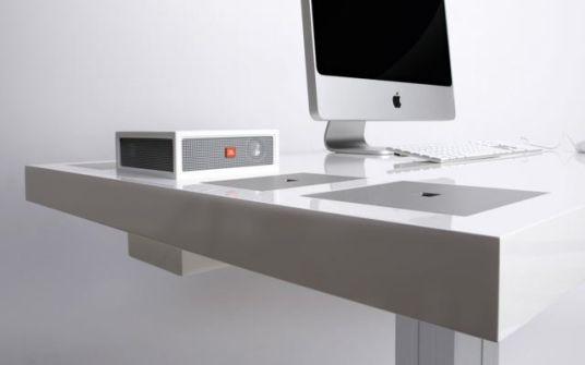 Schreibtisch design apple  Ein Podest für den Mac – GIGA