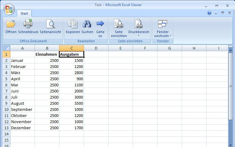 Excel-Viewer