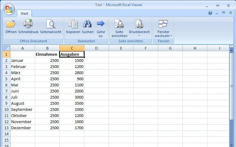 Excel-Viewer