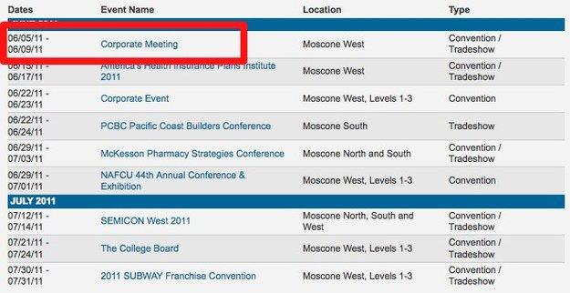 Moscone West: WWDC vom 5. bis 9 Juni?