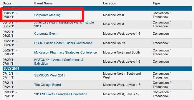 Moscone West: WWDC vom 5. bis 9 Juni?