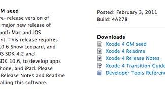 Xcode 4 Golden Master: Kurz da, wieder weg und wieder da