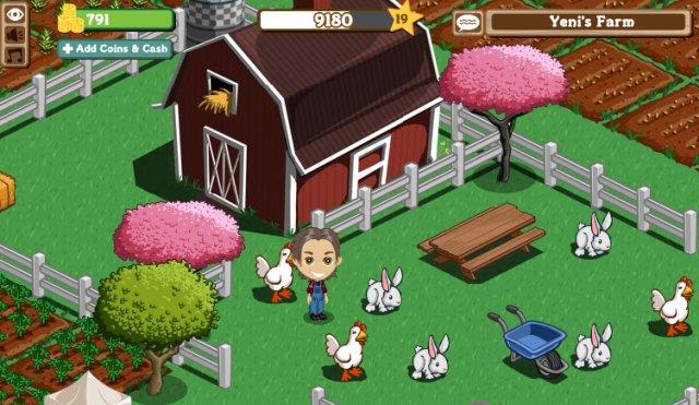 FarmVille: Jeder Spieler beginnt mit einer kleinen Farm...