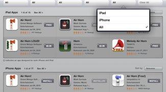iPad-App Store bietet Filter für Suchanfragen