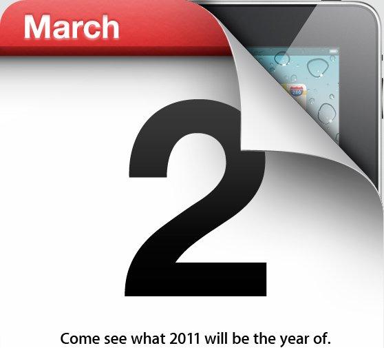Offiziell: Apple iPad-Event am 2. März