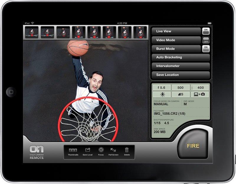 AppStore: DSLR Remote für iPad