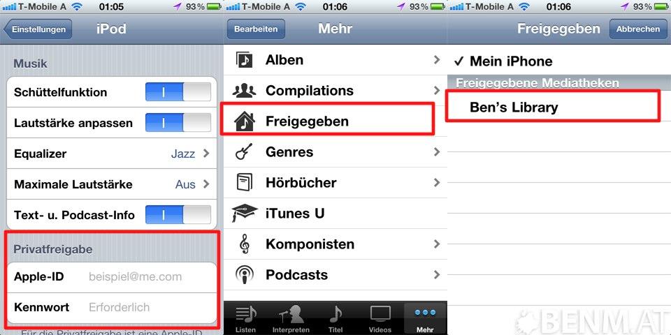 Anleitung Itunes Home Sharing Auf Iphone Und Ipad Aktivieren