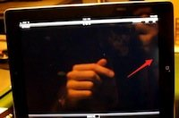 iPad 2 Display mit Verfärbungen und Lichtaustritt