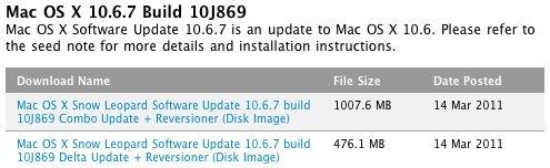 Mac OS X 10.6.7: Neuer Beta-Build