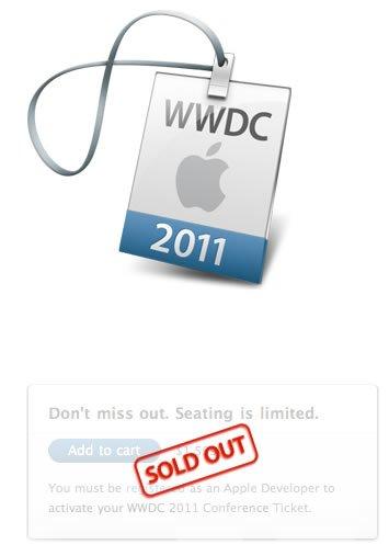 Apple WWDC 2011 Ausverkauft