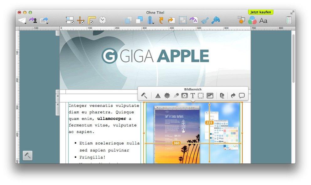 Screenshot von Mail Designer 2 – Anklicken für größere Ansicht.