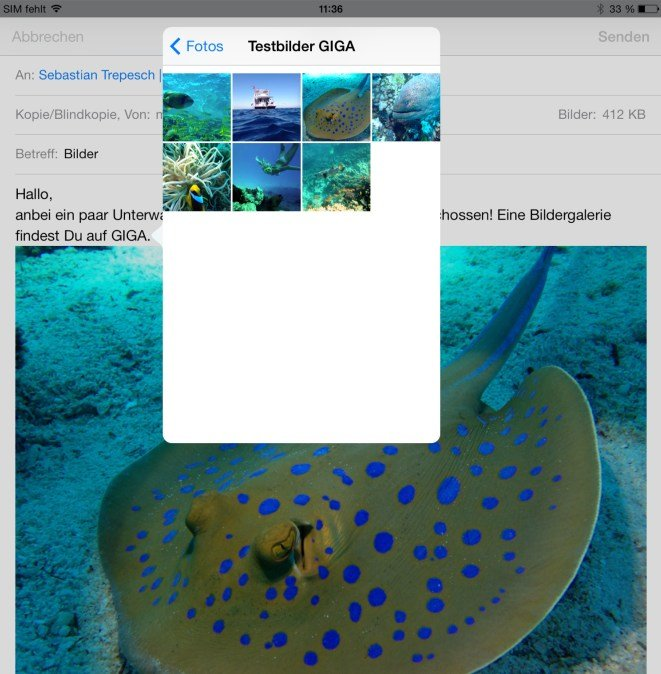 iPad-Bild-in-Mail-einfuegen