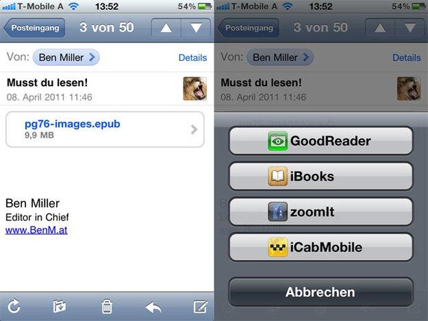 ePub in iBooks: Direkter Download auf iPhone und iPad