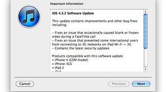 iOS 4.3.2: Apple veröffentlicht neue Firmware