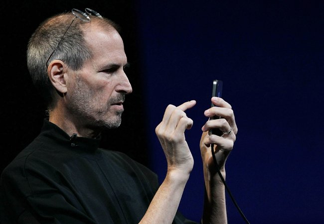 "Steve Jobs: ""We don't track anyone."""