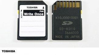 Einweg-SD-Karte von Toshiba: Fälschungssichere Fotos und Daten