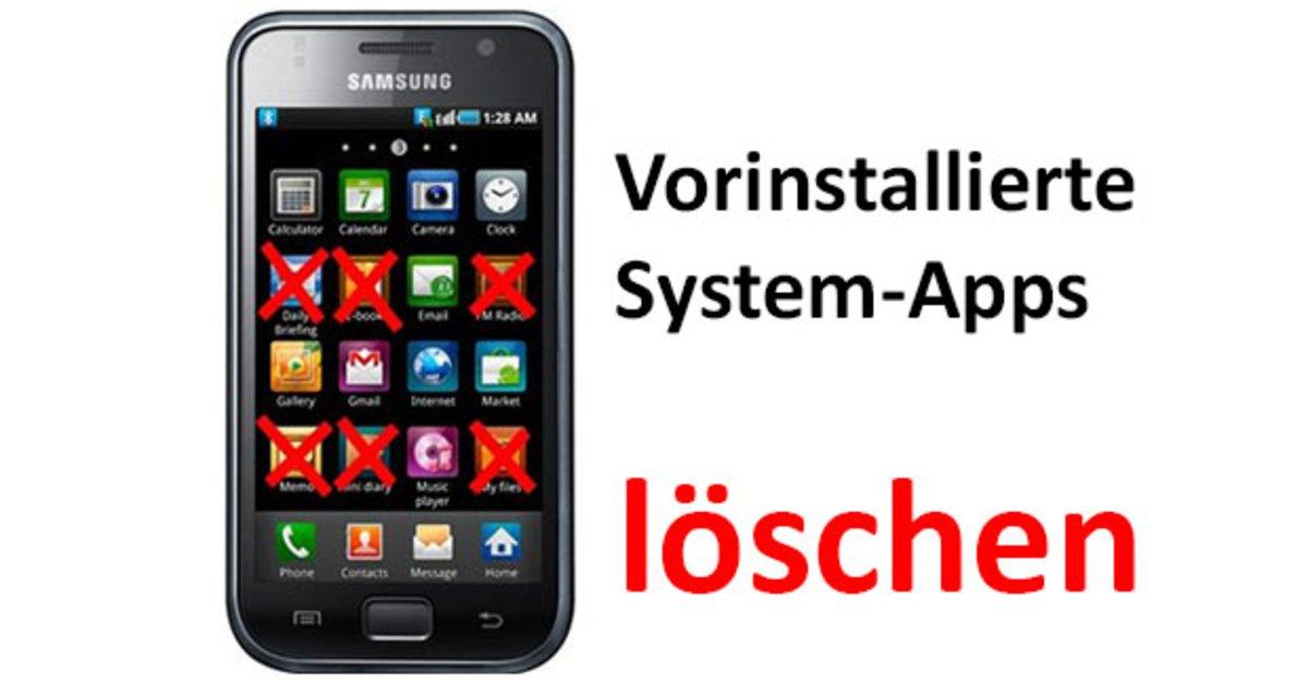 Android: Vorinstallierte System-Apps löschen & deaktivieren ...