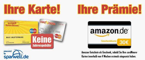 Kostenlose cardNMore Kreditkarte