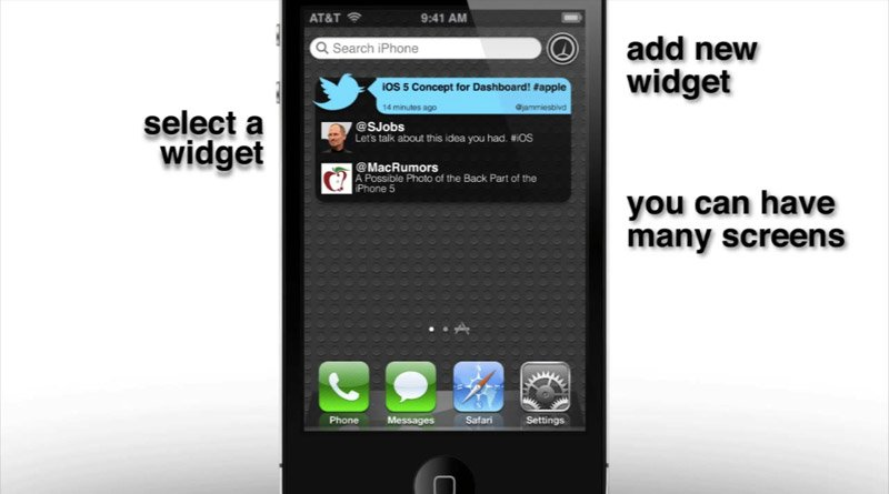 Konzeptvideo: iOS 5 Dashboard mit Widgets
