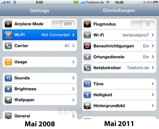 iOS Evolution: Changelogs aller iOS-Versionen seit 1.0