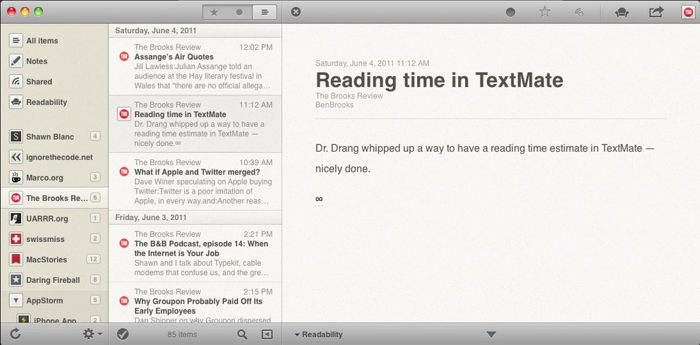 App of the Day: Reeder, schöner Feedreader für den Mac