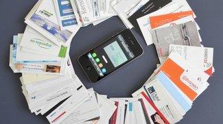 Visitenkarten-Scanner für das iPhone: Software gegen Mensch
