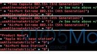Neues AirPort-Dienstprogramm: Hinweise auf neue Hardware