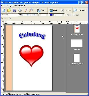 ck gruß- und einladungskarten designer download – giga, Einladung